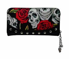 Banned Power Trip Ouija Skull Occult Skull Etching Gothic Coin Purse