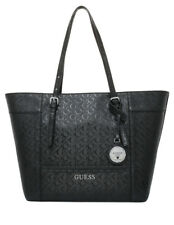 GUESS Paymer Glazed Handbag Shoulder Bag Satchel Tote Black