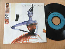 "DISQUE 45T DE GRACE JONES  "" LOVE IS THE DRUG """