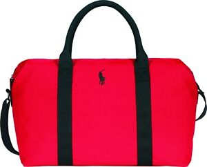 RALPH LAUREN POLO RED WEEKEND BAG / SPORT / HOLDALL / DUFFLE / TRAVEL BAG