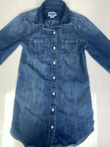 CHILDREN GIRLS BLUE DENIM OLD NAVY SMALL SIZE 6 - 7 DRESS PRE-OWNED