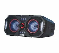 Bluetooth Speaker Stereo System Wireless Big Blue Party Indoor Outdoor LED Light