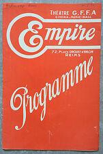 Programme EMPIRE Reims DAINAH LA METISSE Vacances FLORELLE 1932
