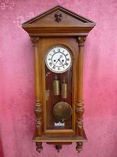 bella,vecchio orologio pendolo__REGULATOR_con pendolo und 2 Pesi__Wiener