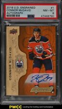 2018 Upper Deck Engrained Connor McDavid AUTO #1 PSA 8 NM-MT