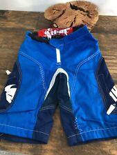 Thor Static Mens Racing Shorts Motocross Blue White Size 28.  C14