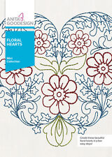 Anita Goodesign Embroidery Machine Design CD FLORAL HEARTS