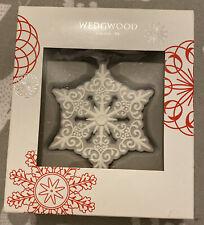 Wedgwood Christmas Grey Pierced Snowflake Ornament Nib Htf New