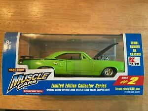 Tootsie Toys Muscle Cars Hard Body 1969 Plymouth GTX Green Limited Edition