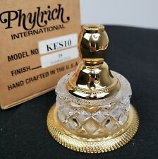 NEW Antique Style Phylrich Cut Crystal Polished Gold Robe Hook KES10