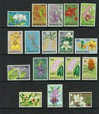 Barbados: 1974, Orchids definitive set, Watermark Block CA,  MNH