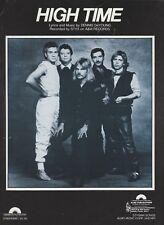 High Time - Styx - 1983 US Sheet Music