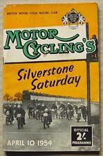 SILVERSTONE 10 Apr 1954 MOTOR CYCLING'S SILVERSTONE SATURDAY Programme
