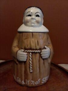 DeForest of California Monk Cookie Jar Thou Shalt Not Steal 1964 Vintage
