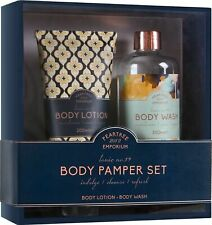 LUXORIOUS BODY PAMPER SET BODY LOTION WASH IDEAL PAMPERING GIFT FOR WOMEN OR MEN