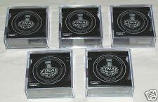 LA KINGS NY RANGERS 2014 Stanley Cup Finals Official Game Pucks 1,2,3,4,5 SET