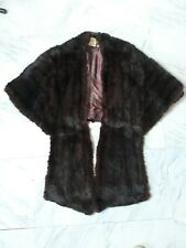 Women's L.R. Fox Brown Faux Fur Shawl