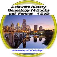 74 Books Delaware History Genealogy Vintage Rare Civil War 1 DVD