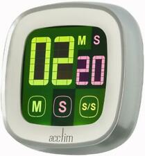 Acctim Scroll Touchscreen LCD Digital Kitchen Timer Fridge Magnet Two Colour