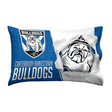 Canterbury Bulldogs NRL Pillow Case Pillowcase Birthday Fathers Gift *NEW 2018*
