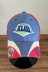 NFL Team Apparel Tampa Bay 2009 Super Bowl XLIII Red Gray Hat Steelers Cardinals