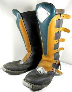 Vintage Malcolm Smith Alpinestars Racing MSR Leather Motocross Boots Size 12