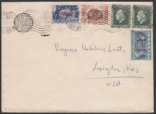 GREECE, 1946. Cover 484 (2), 472C, 473B, Athens - Lexington, Va