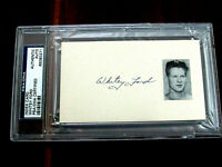WHITEY FORD 1961 WSC & WS MVP HOF YANKEES SIGNED AUTO 1960'S INDEX CARD PSA/DNA