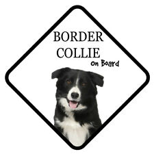 BORDER COLLIE On Board Car Sign With Sucker Dog Stickers
