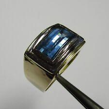 815 - Attraktiver Ring aus Gelbgold Weißgold 585 mit Topas - 2436