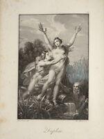 F STÖBER (1795-1858) BELLE GRAVURE DAPHNE MYTHOLOGIE NÉOCLASSIQUE EMPIRE 1815