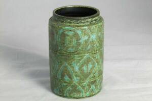 Nils Thorsson for Aluminia Royal Copenhagen Green Baca Vase Danish Ceramic 1960s