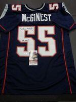 Willie Mcginest New England Patriots Autographed INSCRIB Custom Jersey COA-JSA