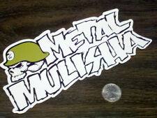 "METAL MULISHA Large White 8"" Logo Sticker Car Window Decal Motocross Nitro MX SX"