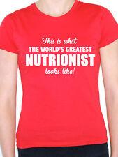 WORLDS GREATEST NUTRITIONIST - Diet / Food / Novelty Themed Women's T-Shirt