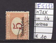 FRANCOBOLLI COLONIE ERITREA USATI TAX N°14 (F5117)