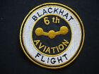 US 6th Aviation Platoon, 55th Aviation Company BLACKHAT FLIGHT Patch