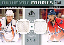 11-12 SP Game Used DUAL Authentic FABRICS xx/100 Made! BACKSTROM & GREEN