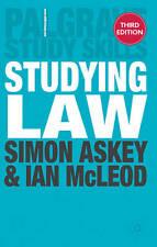 Studying Law. Simon Askey and Ian McLeod (Palgrave Study Skills)