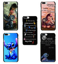 LILO AND STITCH OHANA Soft TPU Case Cover For iphone X 7 8 6S Plus S9 Galaxy S8