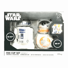 STAR WARS R2-D2 & BB-8 EGG CUP SET BY FUNKO DROID BREAKFAST SET PACK OF 2