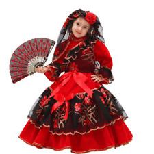 Vestito Costume Spagnola Velluto 2/3 anni Carnevale Pegasus Party