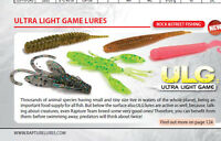 Ultra light game fishing lures Rock or Street fishing 5 types 6 colours 12 pack