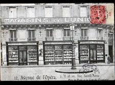 PARIS I° / MAGASINS de l'UNION / FAIENCES PORCELAINES CRISTAUX , animé en 1906