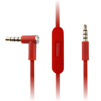 Red Audio Cable for Beats by Dr Dre Solo3 Studio 3.0 Headphones w Microphhone
