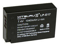 Mitsuru® 1040mAh Akku für Canon EOS 760D M3, 9967B002AA LP-E17