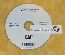 SEBU5386 Cat Caterpillar 518 Skidder Operation Maintenance Manual CD