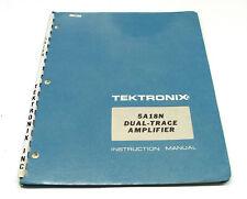 Tektronix 5A18N Instruction Manual f. 5000er Serie Dual Trace Amplifier Plugin