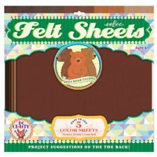 Bear Colors Brown Felt Sheets, 5 sheets, by eeBoo