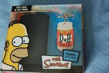 The Simpsons  Key Ring  &   Key Case Travel  Accessories  Set    NEW